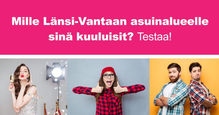 Esimerkkikuva toteuttamastamme Länsi-Vantaa-testistä
